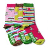 Oddsocks Fiesta - pack of 3 girl's odd socks (not pairs).